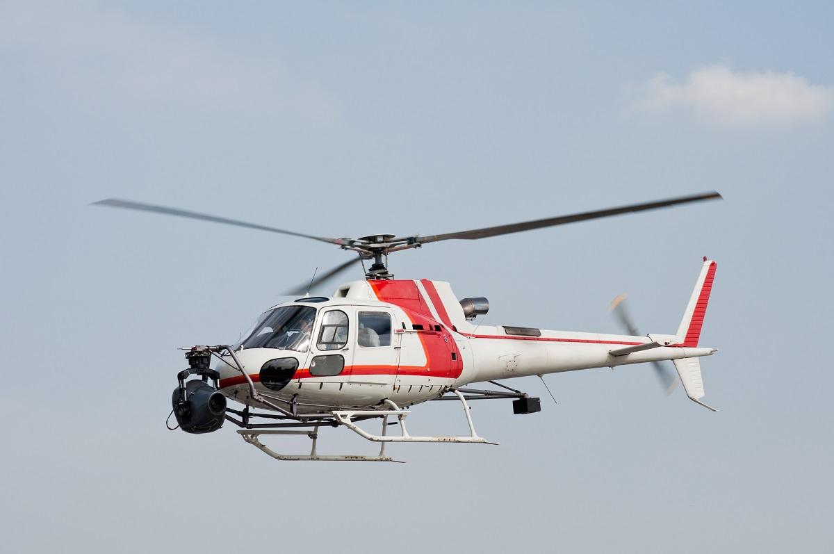 Filmvlucht helikopter