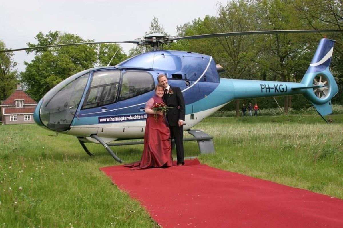 Helikopter op bruiloft