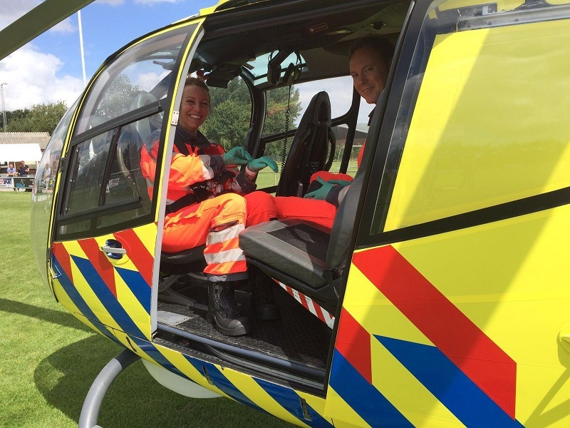 Helikopter wrappen voor event