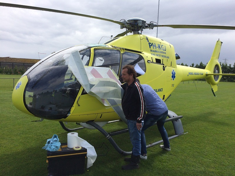 Helikopter wrappen voor reclame