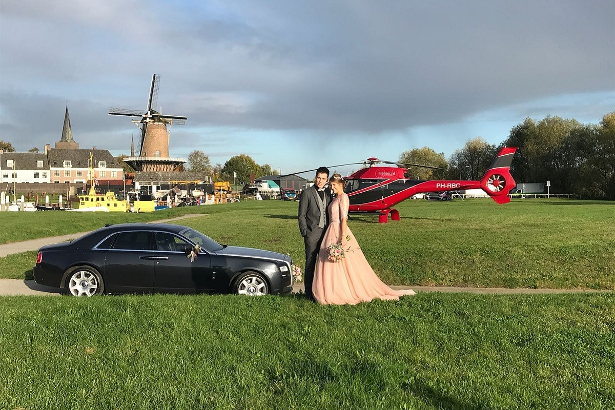 Trouwen in helikopter